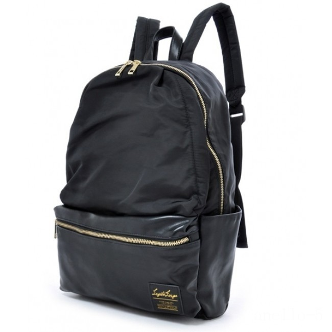 last chance anello legato nylon/faux leather backpack in black best price limited sale