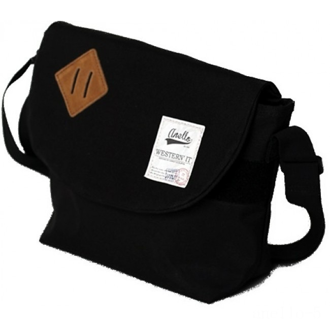 best price anello messenger bag in black limited sale last chance