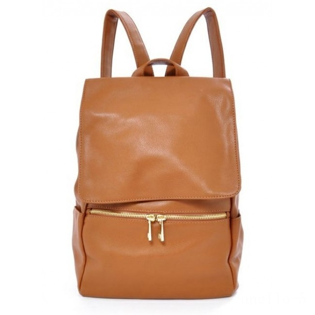 last chance anello legato faux leather flap backpack in camel best price limited sale