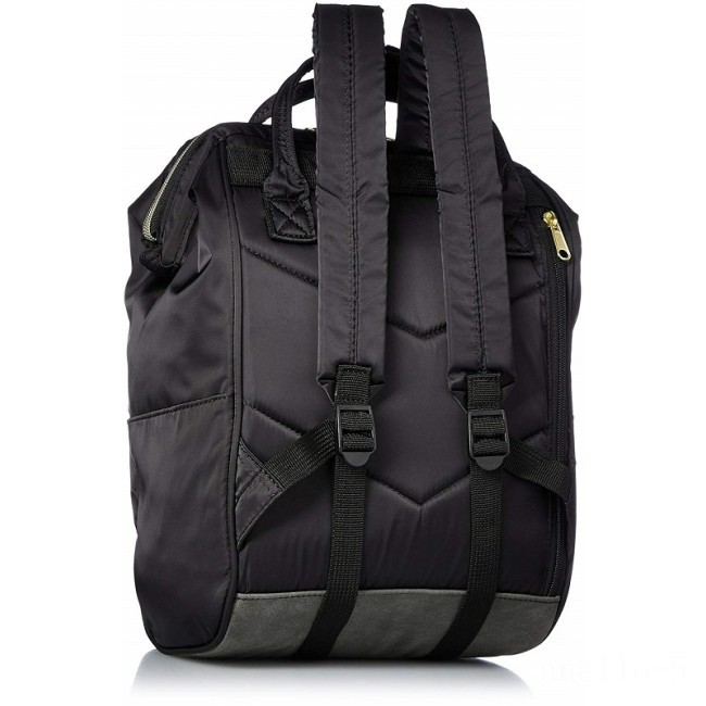 best price anello nylon rucksack small in black limited sale last chance