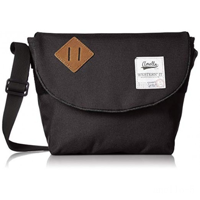 last chance anello messenger bag mid in black limited sale best price