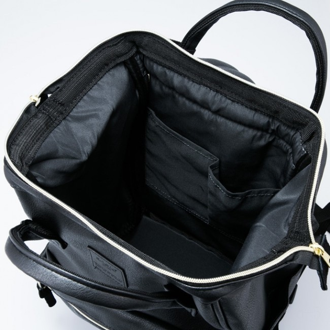 limited sale anello faux leather rucksack small in black last chance best price