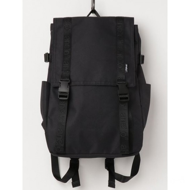 best price anello top flap backpack in black limited sale last chance
