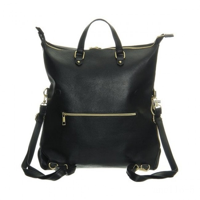 limited sale anello legato 2 way faux leather backpack in black best price last chance