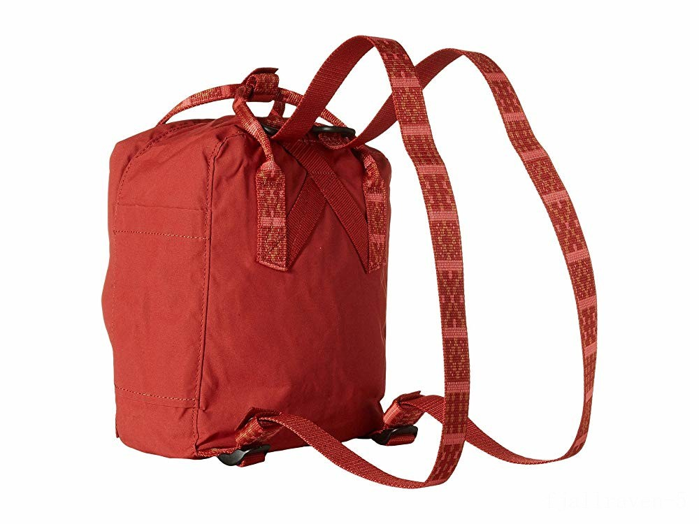 best price fjällräven kånken mini deep red/folk pattern last chance limited sale