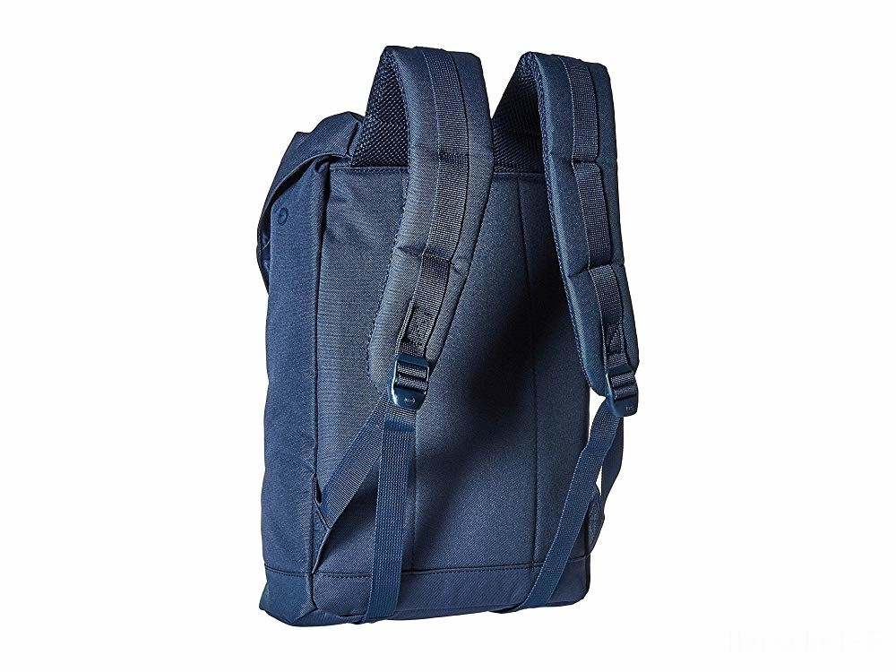 last chance herschel supply co. retreat mid-volume navy/tan synthetic leather limited sale best price