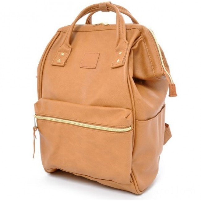 limited sale anello faux leather rucksack in camel beige last chance best price