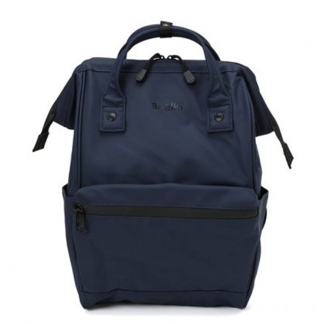 best price anello matte rubber rucksack in navy last chance limited sale