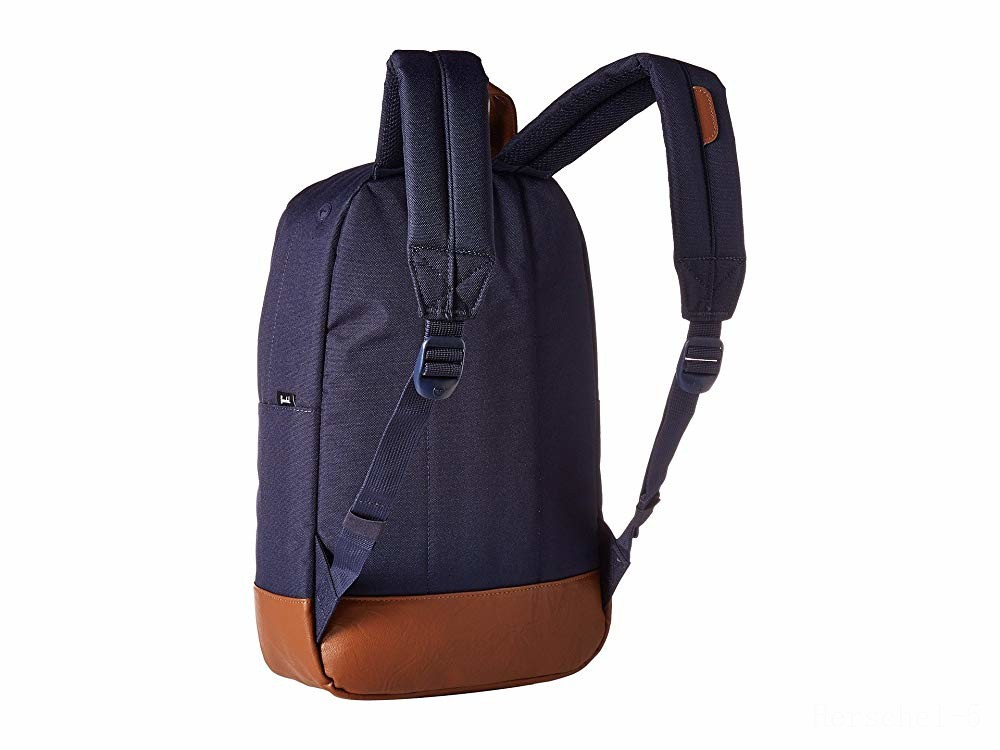 limited sale herschel supply co. heritage mid-volume peacoat/tan synthetic leather best price last chance
