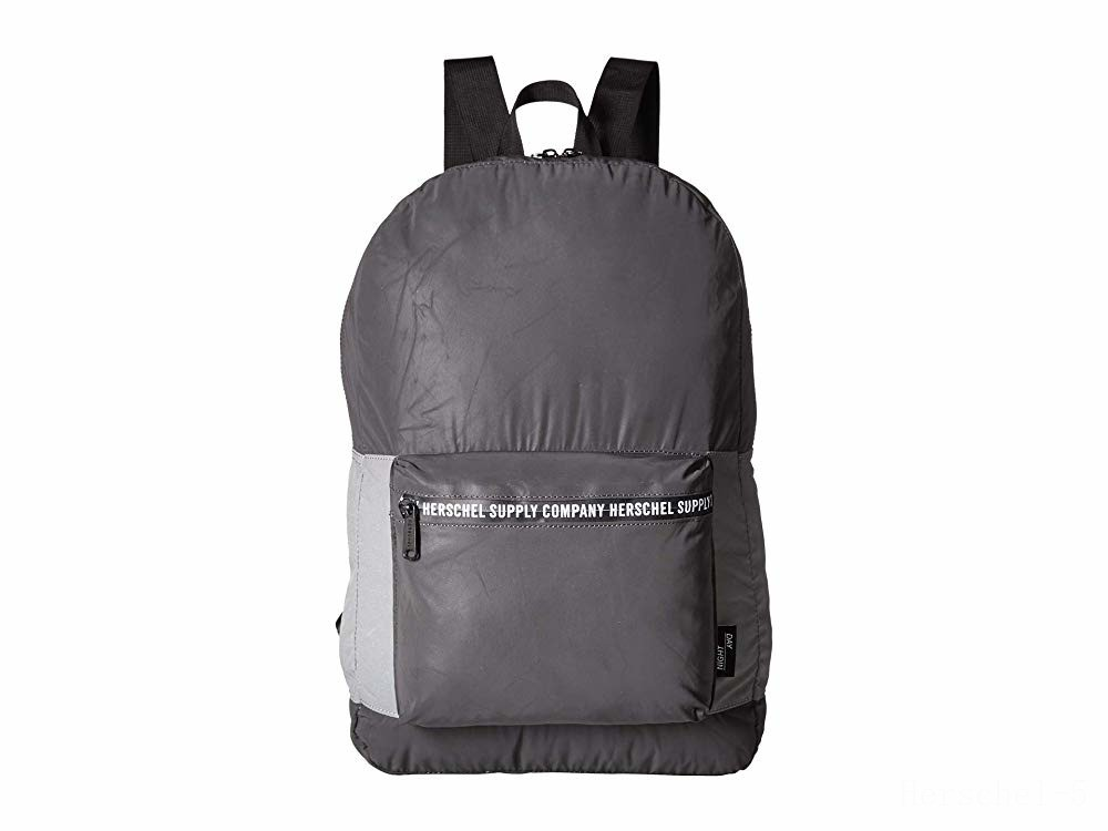 best price herschel supply co. packable daypack black reflective/silver reflective limited sale last chance