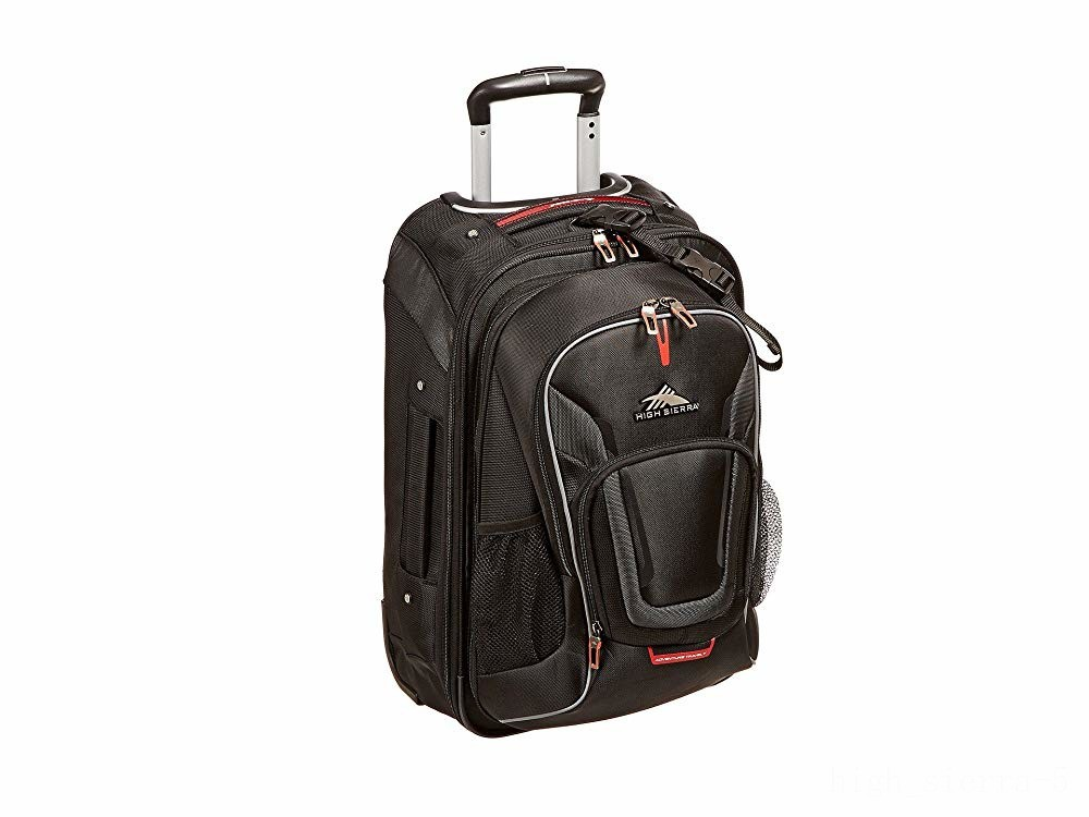 best price high sierra at7 carry-on wheeled backpack black limited sale last chance