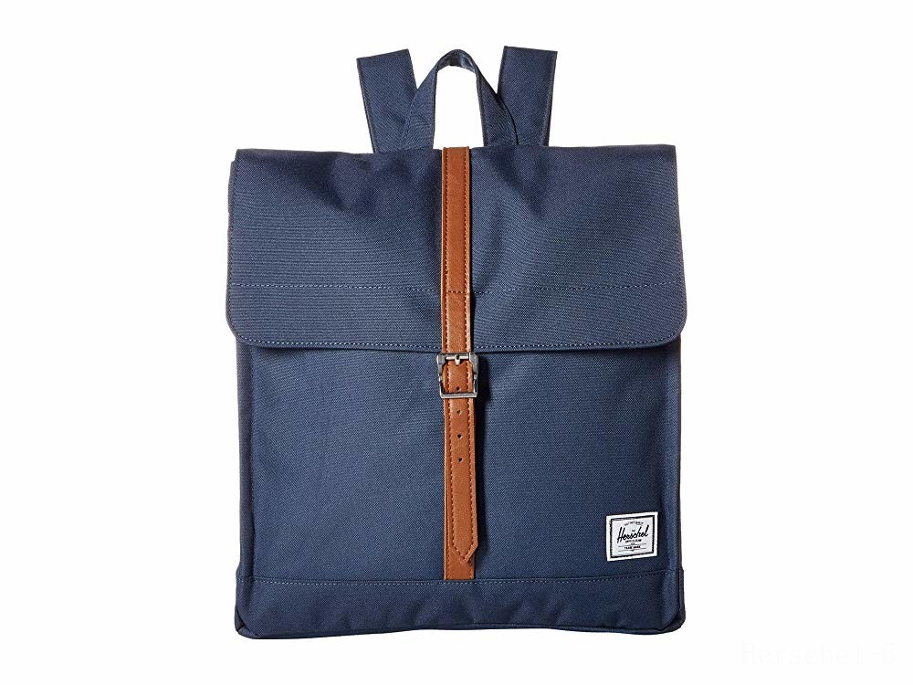 limited sale herschel supply co. city mid-volume navy/tan synthetic leather last chance best price