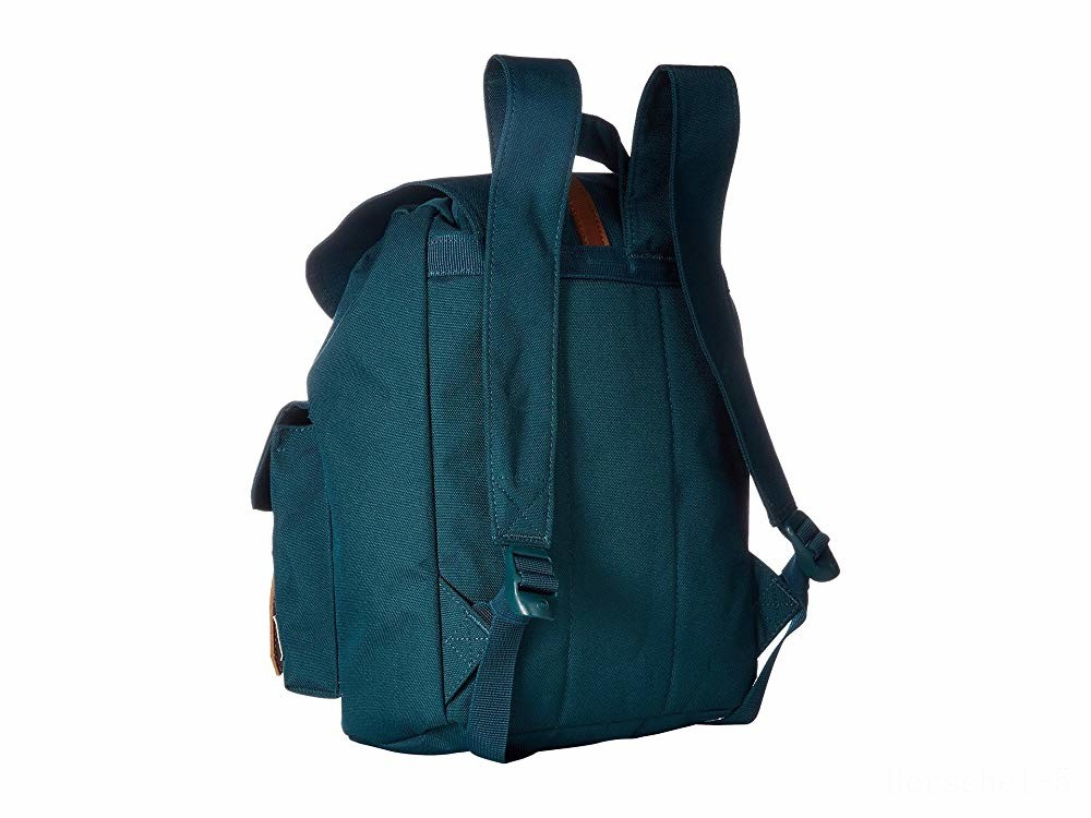 best price herschel supply co. dawson x-small deep teal/tan synthetic leather last chance limited sale
