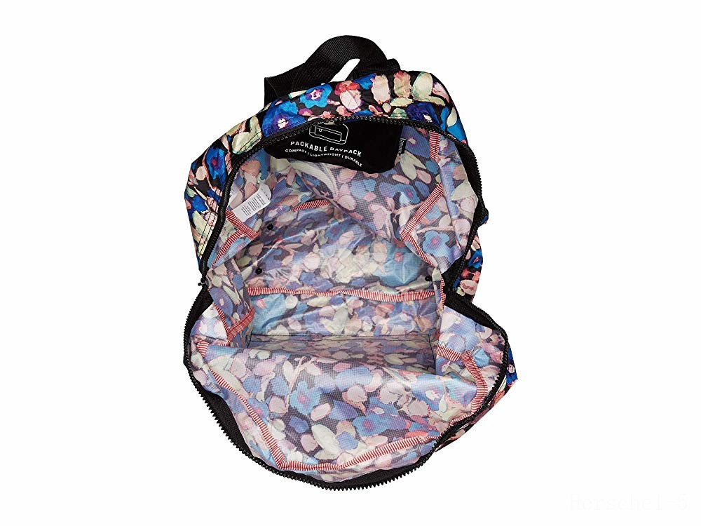 best price herschel supply co. packable daypack painted floral limited sale last chance