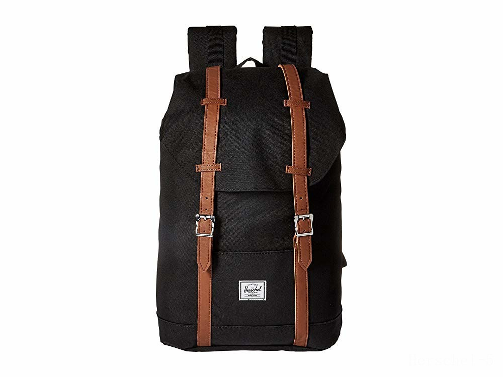 last chance herschel supply co. retreat mid-volume black/tan synthetic leather best price limited sale