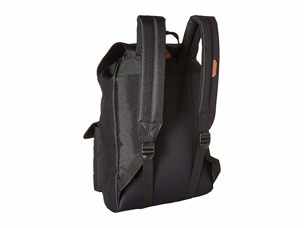 best price herschel supply co. dawson black/tan synthetic leather last chance limited sale